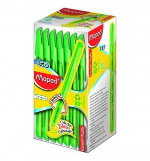 Ручка шариковая  Green Ice треугольный корпус неавтоматическая зеленая Maped