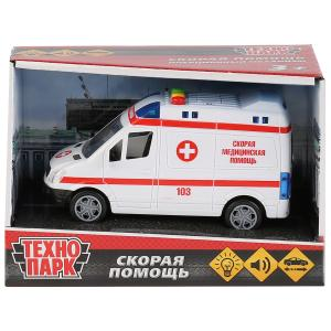 , Машина Микроавтобус Скорая, 15,5см Технопарк