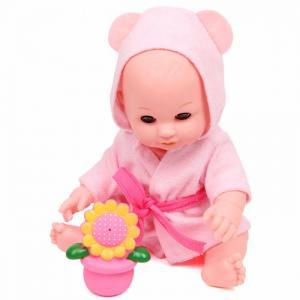 Кукла-Пупс в розовом халатике с аксессуарами и звуками 30 см Lisa Jane