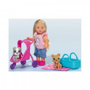 Кукла Еви с двумя собачками и коляской, 12 см, Simba