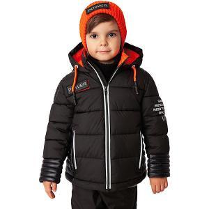 Демисезонная куртка Gulliver. Цвет: черный