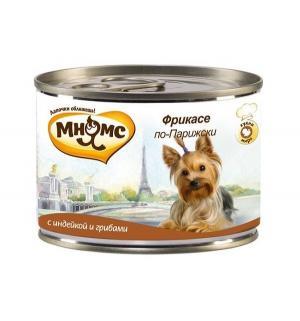 Влажный корм  для взрослых собак, фрикасе по-парижски (индейка/пряности), 200г Мнямс