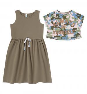 Комплект топ/платье  Elec, цвет: хаки Acoola