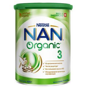 Молочная смесь  Organic 3 с 12 месяцев, 400 г Nan