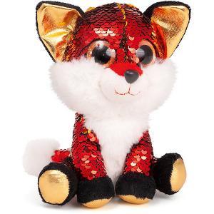 Мягкая игрушка  Лисёнок Опал, красно-золотой Fancy. Цвет: rotgold