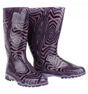 Резиновые сапоги  Абстракция, цвет: фиолетовый Дюна