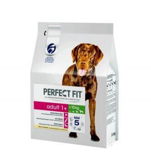 Полнорационный сухой корм  для взрослых собак средних и крупных пород, курица, 2.6кг Perfect Fit