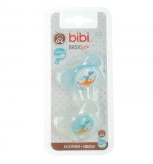 Набор пустышек  Dental Коллекция №5 BasicCare силикон, с рождения Bibi