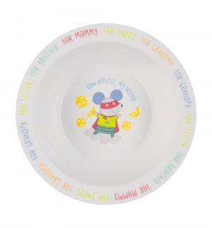 Тарелка  Feebing bowl, цвет: mouse Happy Baby
