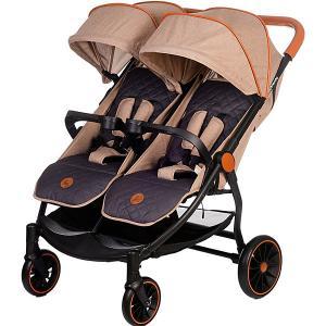 Прогулочная коляска для двойни Acarento Bellezza Duo, бежевая с серым Baby Hit. Цвет: beige/grau