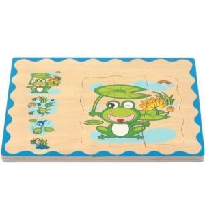 Деревянная игрушка  Пазл. лягушонок, 30 см Мир Деревянных Игрушек